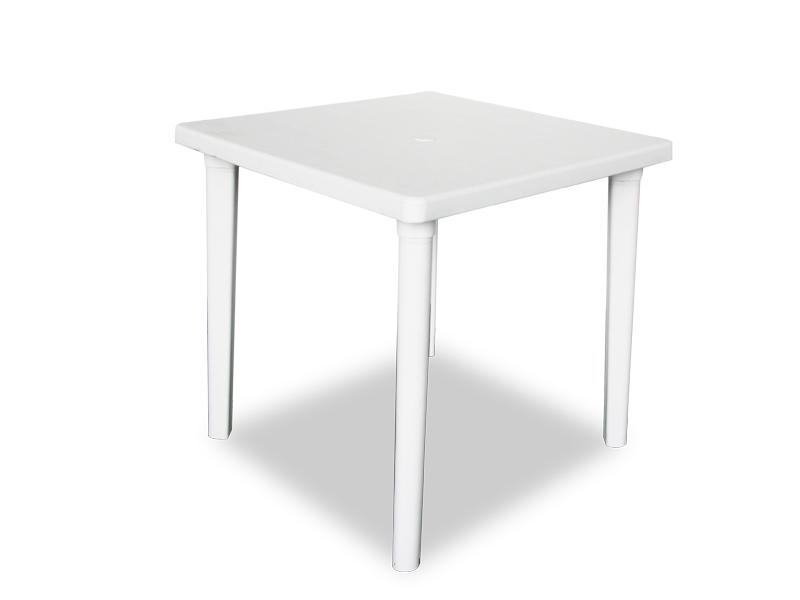 Mesa cuadrada blanca pl sticos en general for Mesa cuadrada blanca